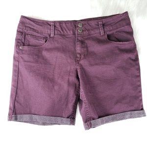 Mudd Mauve Jean Shorts Juniors 18.5